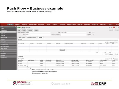 Step 6 – Review document flow in Order History