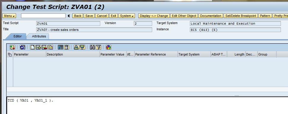 SECATT -  change test script
