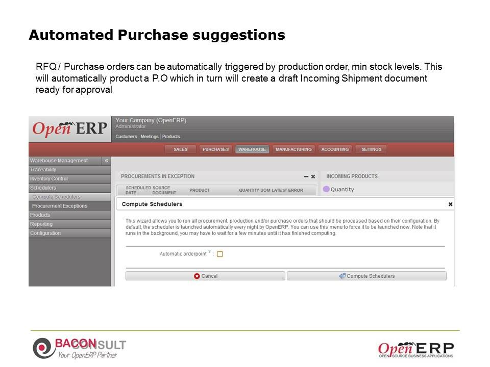 Automated Purchase suggestions