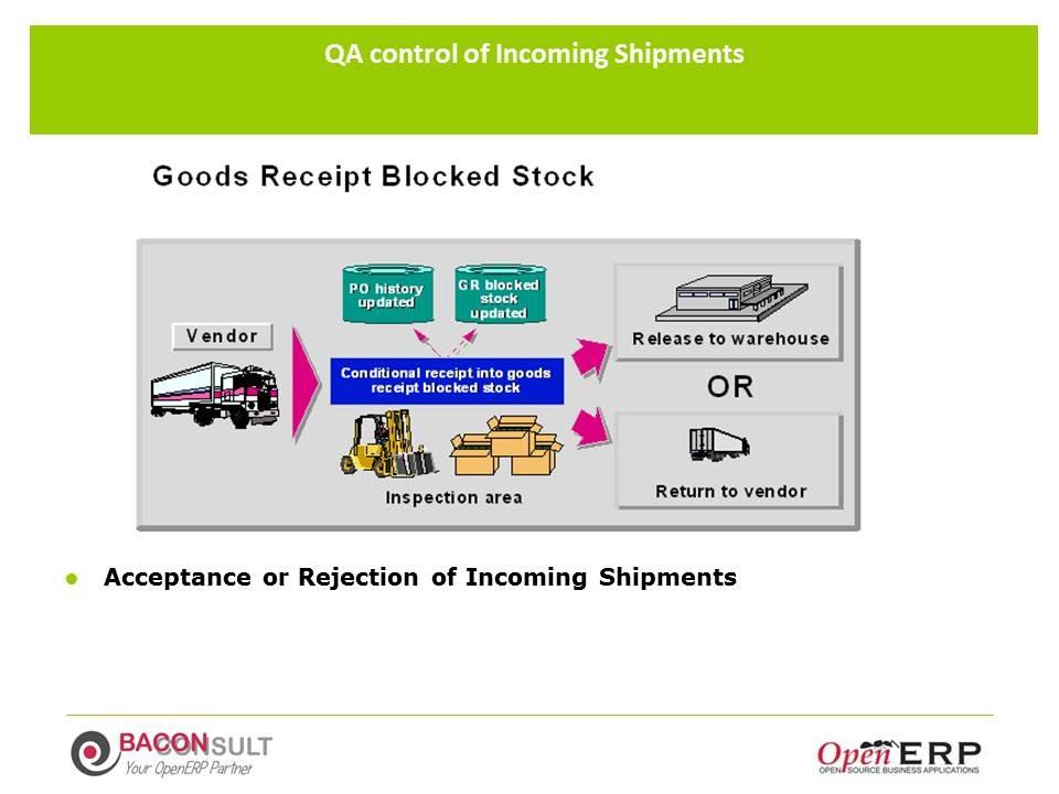 Good Receipt Blocked Stock